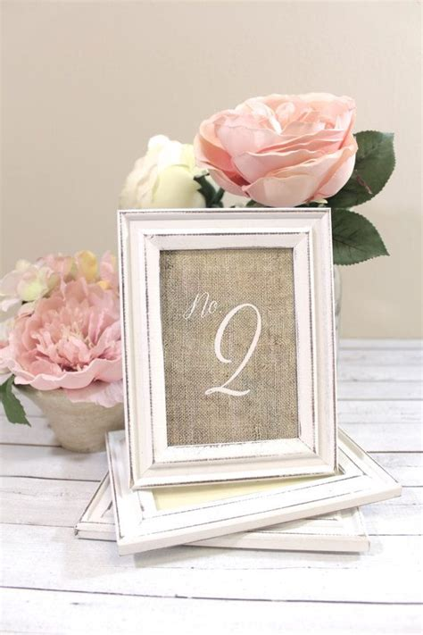 shabby chic table numbers rustic shabby chic wedding frames with burlap table numbers