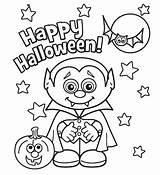 Vampire Coloring Pages Halloween Printable Happy sketch template