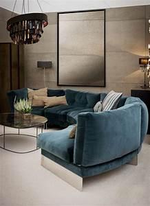 Sofa Samt Blau : halbrundes sofa ist das ihre sache ~ Sanjose-hotels-ca.com Haus und Dekorationen