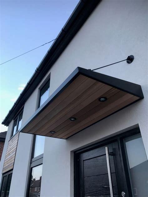 metal door canopy  cladding  entrance light   home pinterest door canopy