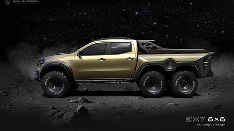 Mercedes X-class 6x6 From Carlex Is A Beast On 6 Wheels