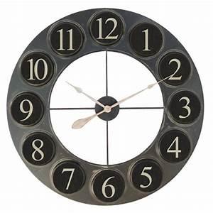 Grande Horloge Industrielle : horloge en relief ~ Teatrodelosmanantiales.com Idées de Décoration