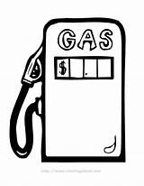 Pump Gas Petrol Colouring Pages Clipart Clip Cliparts Library Favorites sketch template