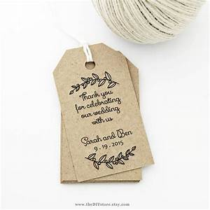 Thank you tag medium wedding tag gift tag love laurels for Free diy wedding favor tags template