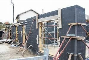 le 1er premur en polystyrene un mur a isolation integree With maison en polystyrene prix