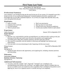 Using I In A Resume by Classic 1 Resume Templates To Impress Any Employer