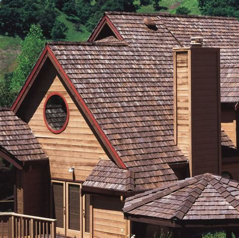 roof home  cedarlite  concrete lightweight tile   wood shake boral