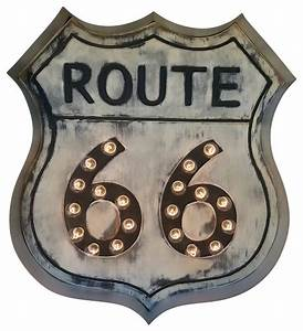 route 66 marquee sign eclectic novelty signs by With kitchen cabinets lowes with route 66 metal wall art