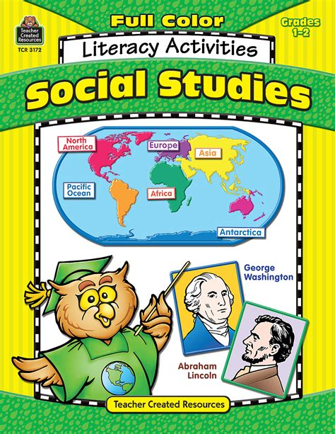 social ideas full color social studies literacy activities tcr3172 teacher created resources