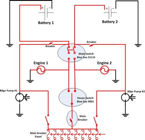 Boat Battery Problems by Two Engine Two Battery Wiring The Hull Boating