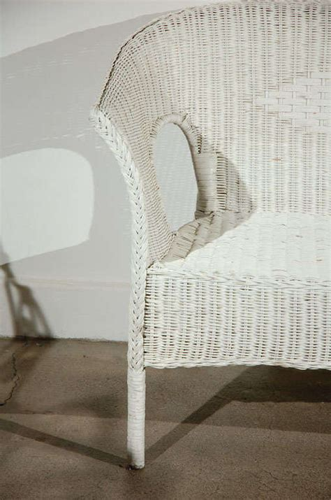 White Wicker Settee by White Wicker Settee 2 Sofas Available Garden