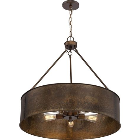 Filament Design 5-Light Weathered Brass Pendant-CLI