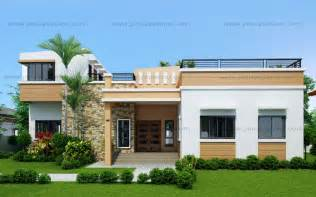 modern one bedroom house plans pictures four bedroom one storey with roof deck shd 2015021