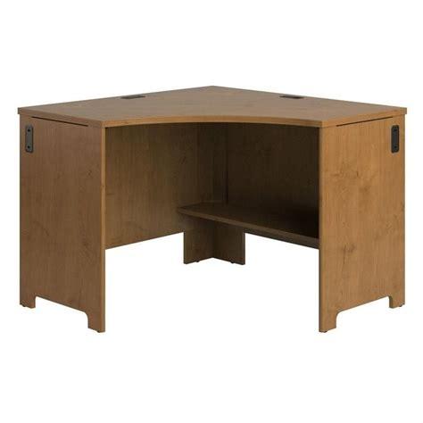 natural wood desk top bush envoy wood corner desk in natural cherry pr76320