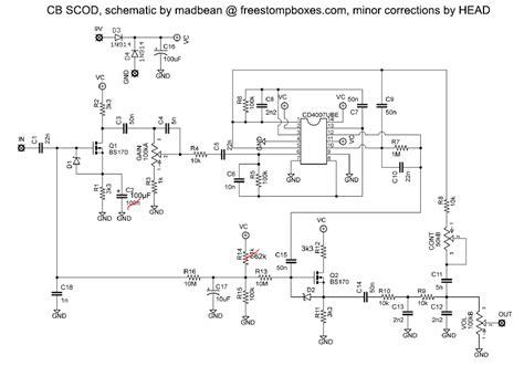 Crunch Sub Wiring Diagram by 自作エフェクター47