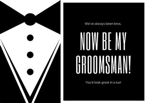 black  white tuxedo wedding groomsmen card templates
