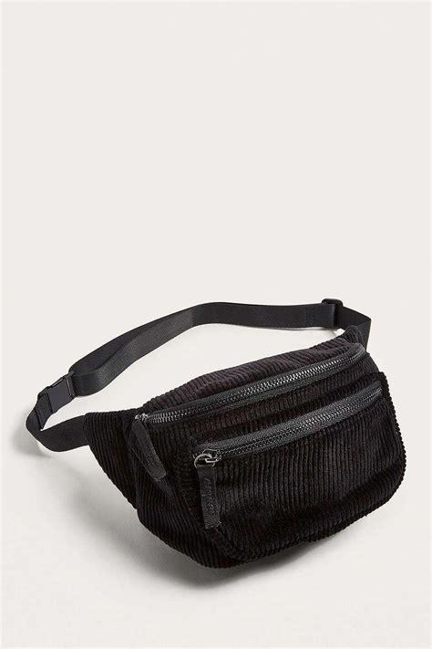 bdg corduroy bum bag womens   black lyst