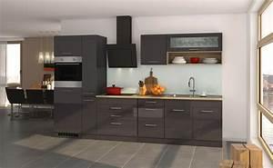 Küchenzeilen Günstig Mit Elektrogeräten : k chenzeile m nchen vario 2 k che mit e ger ten breite 320 cm hochglanz grau graphit ~ Bigdaddyawards.com Haus und Dekorationen