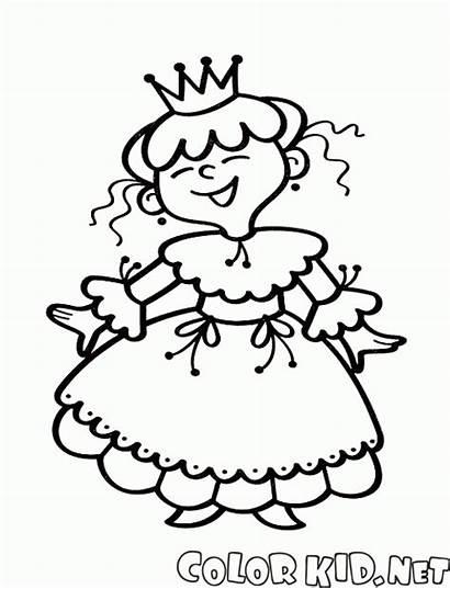 Princesa Coloring Colorare Colorear Trendy Prinzessin Lustige