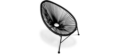 chaise acapulco pas cher fauteuil acapulco piétement noir pas cher
