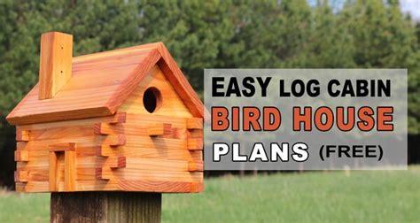 bird house plans log cabin easy homemade bird box patterns monograms stencils