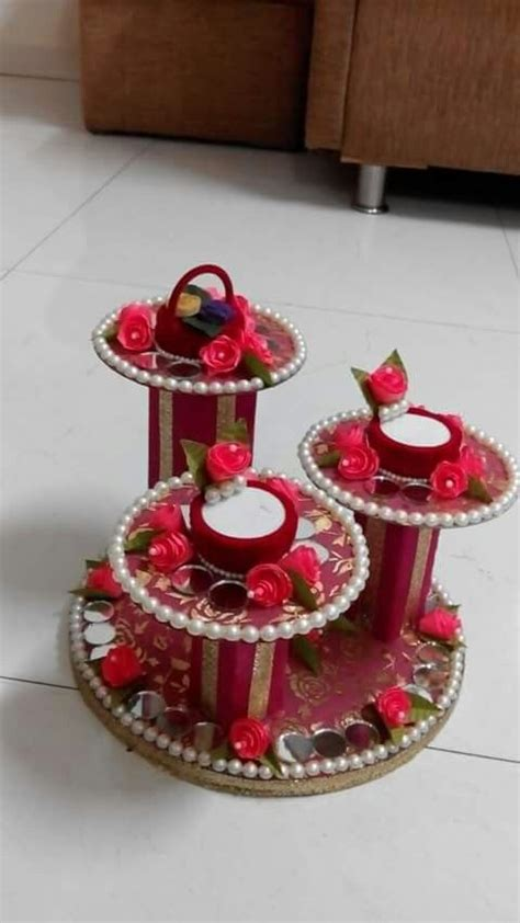 ring platter  cds  colgate box diy diwali