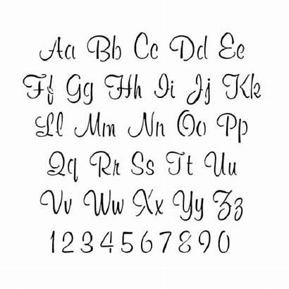 Letter Stencils Printable Cursive Alphabet Templates Font