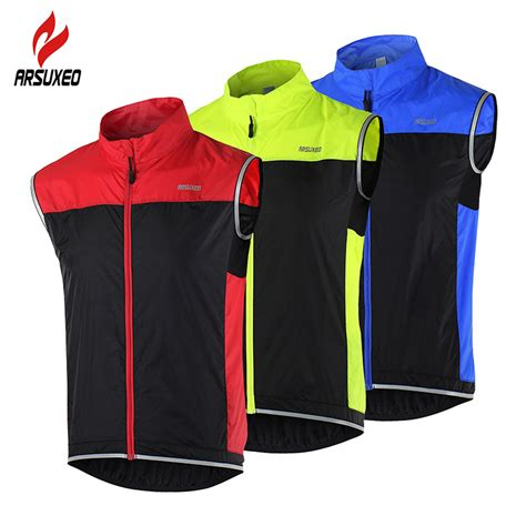 reflective waterproof cycling jacket arsuxeo cycling vest windproof waterproof mtb bike bicycle