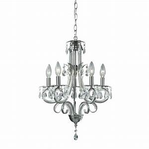 Shop Pearl Brushed Nickel 5-light Chandelier