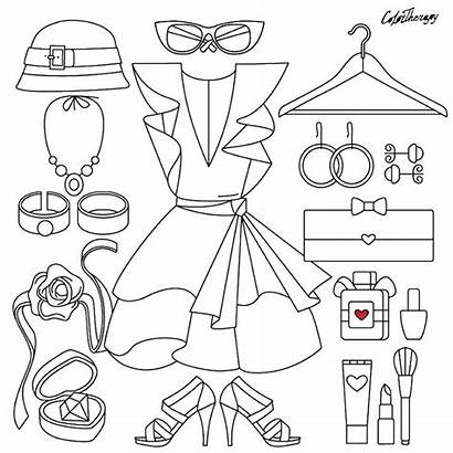 Coloring Pages Therapy Clothes App Printable Books