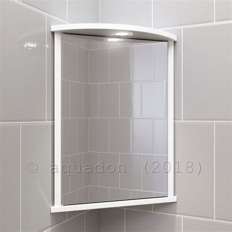 bathroom wall corner mirror cabinet white single door ebay