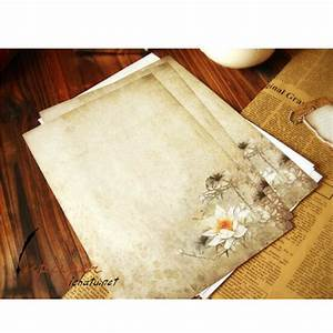 aliexpresscom buy 16 pcs lot vintage lotus letter paper With vintage letter writing paper