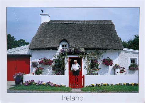 traditional cottage traditional thatched cottage from ireland postcards voyage