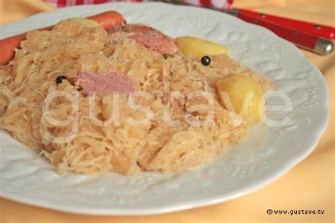 cuisiner choucroute crue comment cuire viande choucroute