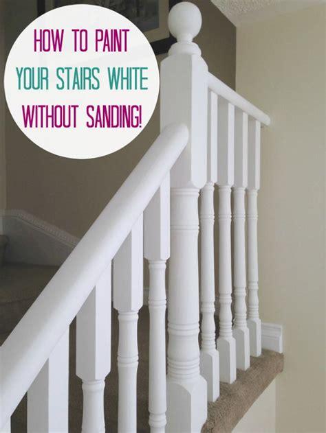 june     painted stair railings