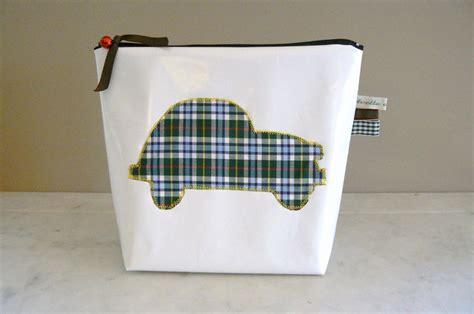 trousse de toilette blanche trousse de toilette enfant 2cv ecossaise mercerie en ligne tissus imprim 233 galons paillette