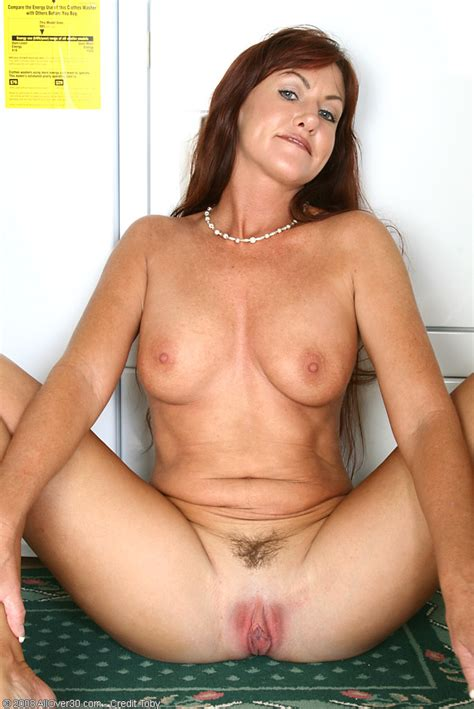 Joann Adams - brunette house lady shows her fuckable ass