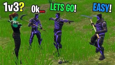 Ghoul Trooper Takes On 1v3 Against New Purple Skull Troopers In Playground! (insane Build