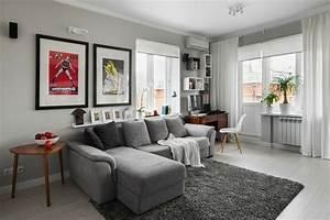 Wohnzimmer Teppich Grau : wohnzimmer grau in 55 beispielen erfahren wie das geht ~ Whattoseeinmadrid.com Haus und Dekorationen