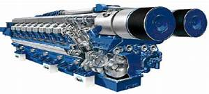 20 Cylinder Man B U0026w Rk280  9000 Kw Engine
