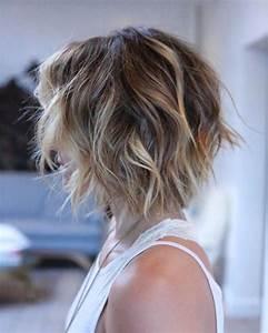 Balayage Cheveux Bouclés : balayage caramel carre plongeant ~ Dallasstarsshop.com Idées de Décoration