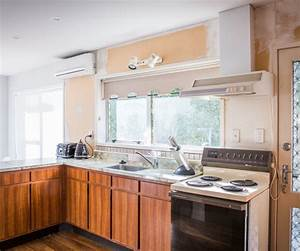 this kitchen went from dull and dark to light and bright With mitre 10 mega kitchen design