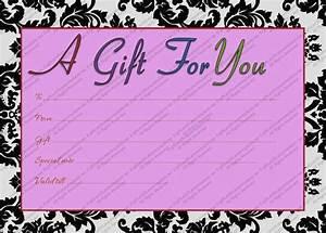 Printable purple generic gift certificate template for Generic gift certificate template