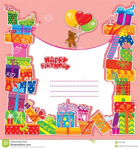 clipart compleanno bambini biglietto di auguri per il compleanno bambino con l