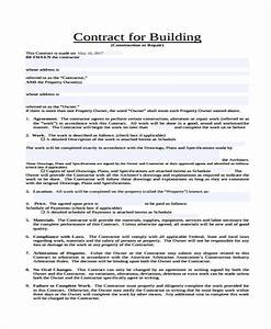 39 sample contract templates free premium templates With standard building contract template