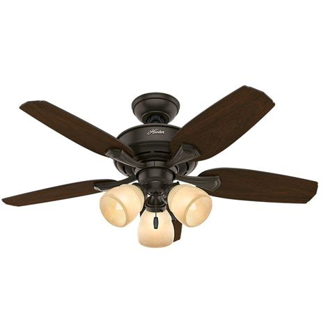 44 ceiling fan with light hunter channing 44 in indoor new bronze ceiling fan with