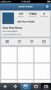 Image Gallery instagram page designs templates