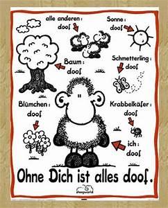 Alles Ist Doof : sheepworld ohne dich ist alles doof mini poster 40x50 ~ Eleganceandgraceweddings.com Haus und Dekorationen