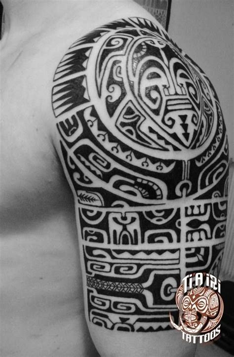 polynesian shoulder chest tattoos pooino yrondi po