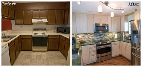 Kitchen Floor Before And After by Galley Kitchen Remodel Before And After On A Budget